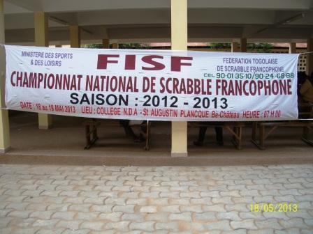 l'affiche de la fédération de scrabble